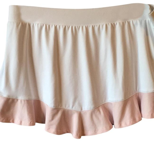 Item - White with Pink and Black Trim Tennis Activewear Bottoms Size 12 (L)