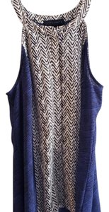Sanctuary Striped Top Black White and Blue