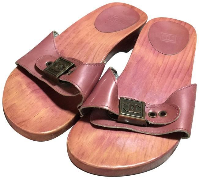 Item - Pink Body; Silver Metal Slip-on Mules/Slides Size EU 36 (Approx. US 6) Regular (M, B)