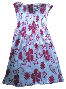 Cynthia Rowley short dress pink with white on Tradesy