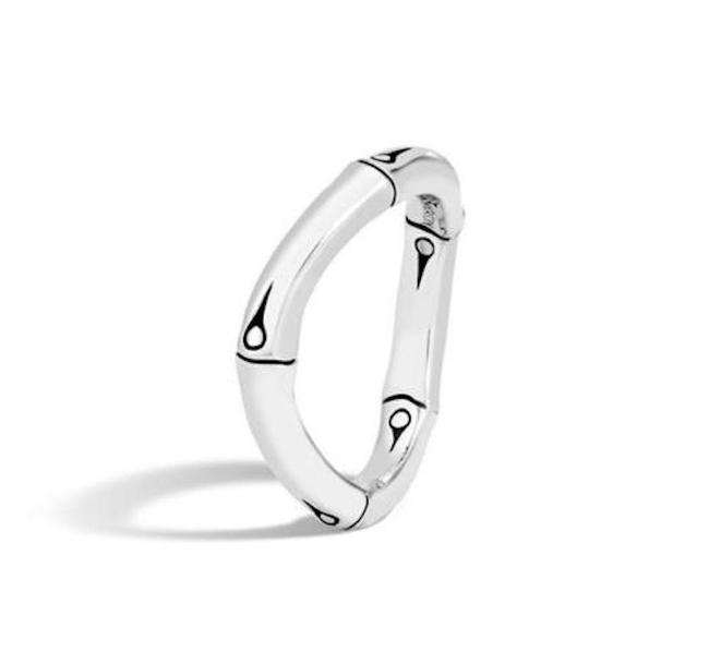 Item - Sterling Silver Bamboo Band Ring