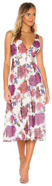 Item - Lilac Floral Style No. Prip-wd730 Mid-length Cocktail Dress Size 4 (S)