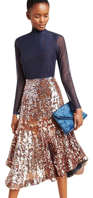 Item - Mauve and Rose Gold Sequined Skirt Size 4 (S, 27)