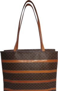 Céline Tote in Macadam Canvas (Brown) & Refined Leather (Saddle)