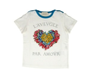 Gucci White Jersey Children's Cotton Floral Heart 457677 9157 Shirt