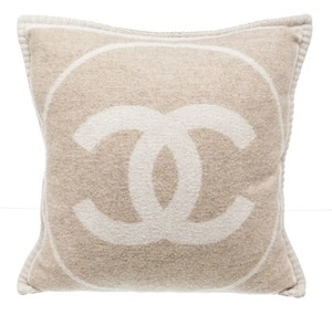 Chanel Chanel Beige and Cream 498950 Wool and Cashmere Pillow (2 of 2)