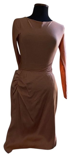 Item - Peach Ruched Styled Skirt Size 8 (M, 29, 30)