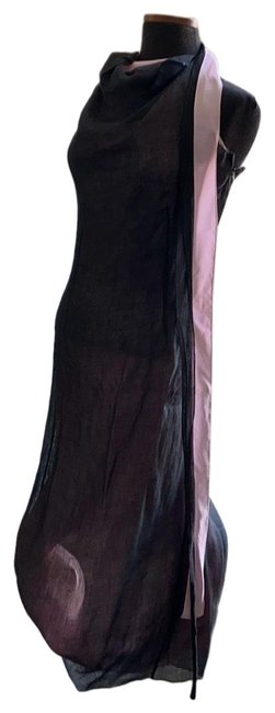 Item - Black & Pink Linen Mid-length Night Out Dress Size 8 (M)