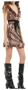 Free People Sequin Boho Minidress Dress