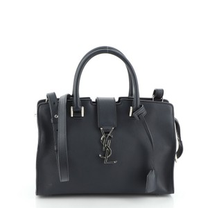 Saint Laurent Leather Satchel in Blue