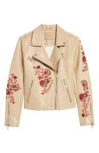 BlankNYC Embroidered Floral Edgy Chic Spring Motorcycle Jacket