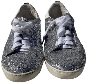 Maje Trainers Silver Glitter Athletic