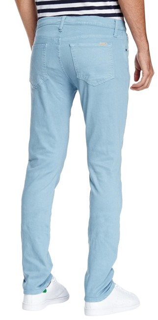 Item - Blue Light Wash Slim Fit Five-pocket Pants Straight Leg Jeans Size 16 (XL, Plus 0x)