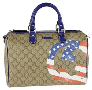 Gucci Satchel in brown blue red white