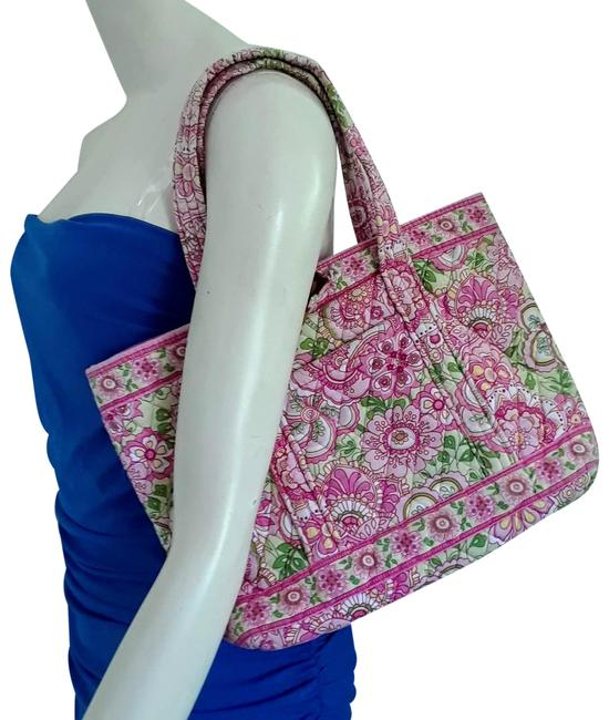 The Pink and green tote bag