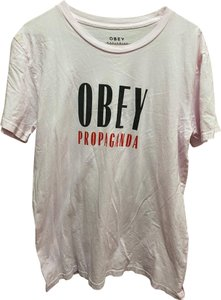 OBEY T Shirt Pink