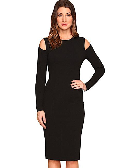 Item - With Tag Cold Shoulder Bodycon In Mid-length Night Out Dress Size Petite 8 (M)