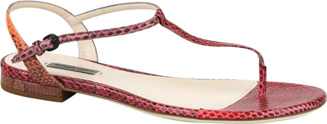 Item - Red/Orange New Python Flat Thong It 40/ 10 338258 8740 Sandals Size EU 40 (Approx. US 10) Regular (M, B)