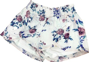 Altar'd State Floral Flowers Mini/Short Shorts White