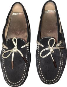Tod's blue and silver Flats