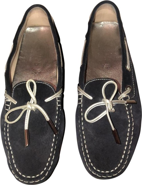 Item - Blue and Silver Flats Size US 7 Regular (M, B)