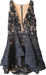 Luxxel Lace Tiered Illusion Fabric Floral Dress