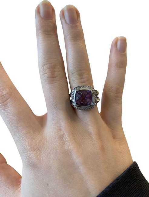 Item - Silver & Purple Albion Diamond with Amethyst Ring