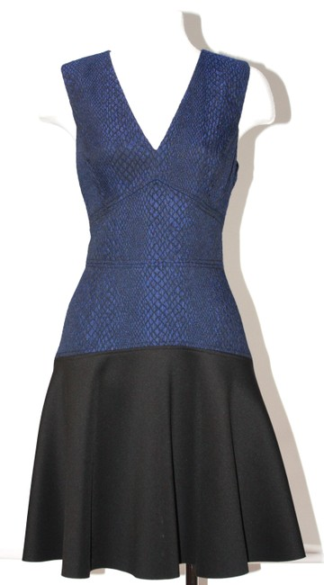 Item - Black & Blue Rebecca Sleeveless Mid-length Formal Dress Size 4 (S)