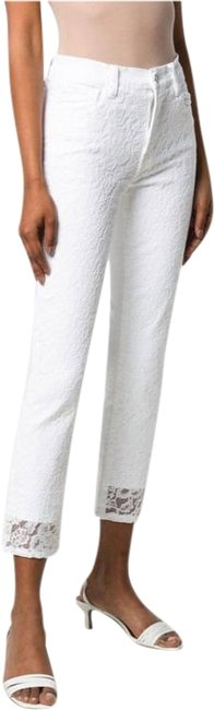 Item - White Ruby Lace Straight Leg Jeans Size 28 (4, S)