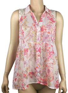 Candie's Sleeveless Floral Casual Top Multicolor