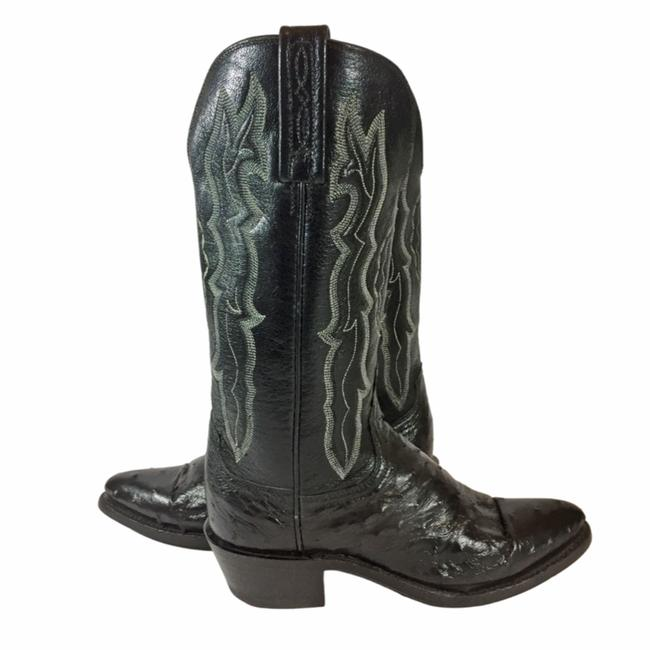 Item - Black 1883 Leather Ostrich Cowgirl Women's B Boots/Booties Size US 6 Regular (M, B)