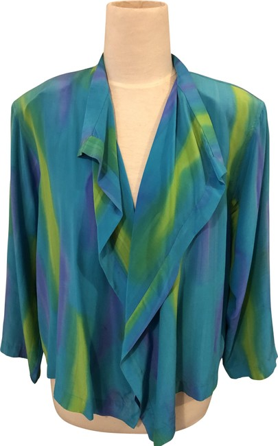Item - Blue/Green Pure Pant Shorts Suit Size 8 (M)