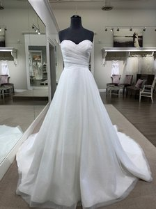 Ivory Stardust Tulle Selena Traditional Wedding Dress Size 6 (S)