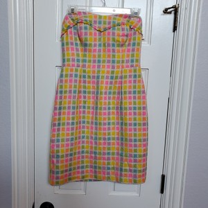 Lilly Pulitzer short dress Multi bright color pink on Tradesy