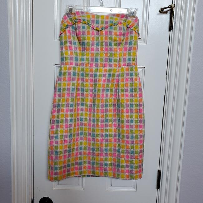 Item - Multi Bright Color Pink 88189 Short Casual Dress Size 2 (XS)