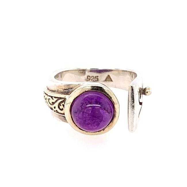 Item - Purple Silver Amethyst Ring