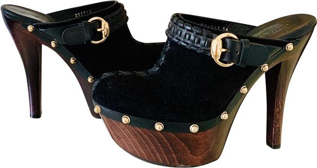 Item - Black/Brown Janis Platform Mules/Slides Size EU 36 (Approx. US 6) Regular (M, B)