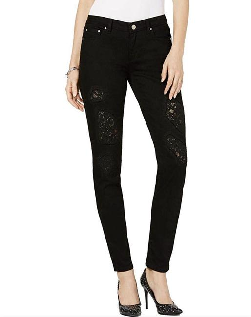 Item - Black Dark Rinse Dillon Relaxed Lace Jeans/Sz:2/Nwt with Tags R Skinny Jeans Size 26 (2, XS)