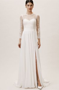 Catherine Deane for BHLDN Ivory Leanna Bodysuit Vintage Wedding Dress Size 2 (XS)