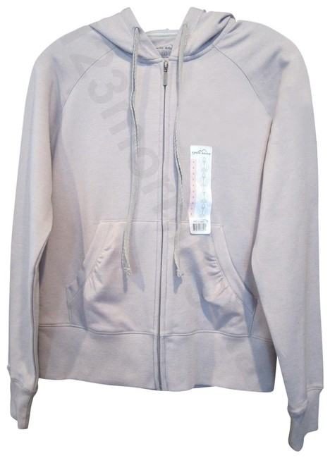 Item - Light Gray Fleece Cotton Sweat Jacket Activewear Outerwear Size 6 (S)