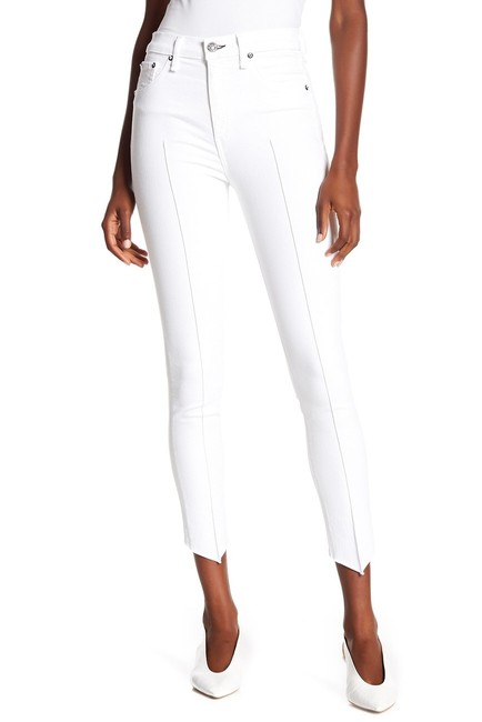 Item - White High Rise Step Hem Skinny Jeans Size 28 (4, S)