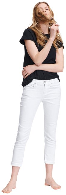 Item - White Low-rise Slim Boyfriend Capri Relaxed Fit Jeans Size 25 (2, XS)