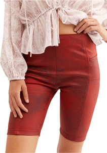 Free People Red Shorts