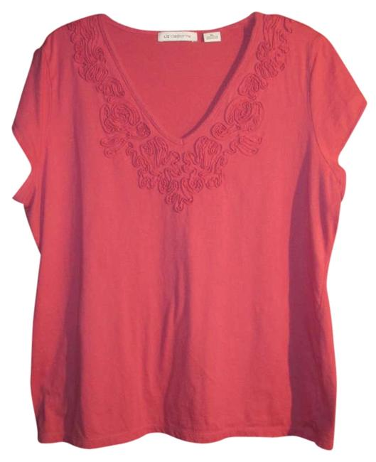 Preload https://item2.tradesy.com/images/liz-claiborne-peach-tee-shirt-size-16-xl-plus-0x-272816-0-0.jpg?width=400&height=650