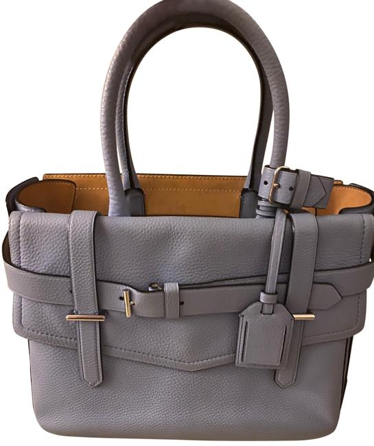 Item - Sky Boxer Baby Blue Leather Tote