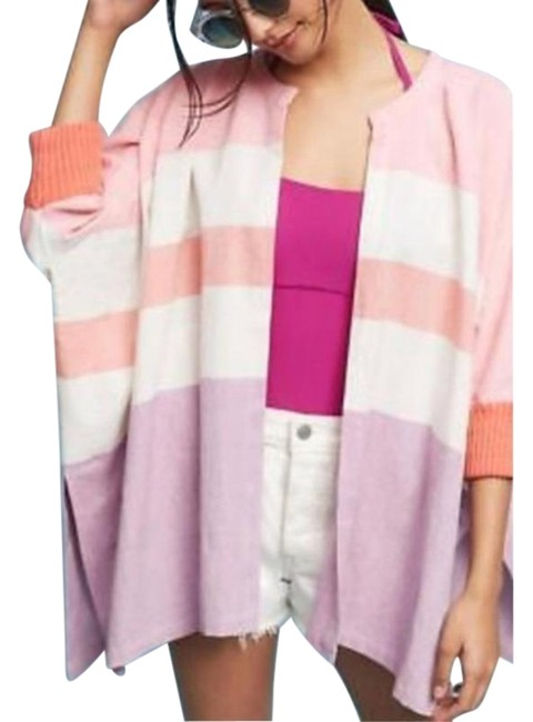 Item - Pink Kimono Hei Hei Striped Colorblock Cardigan Size OS (one size)