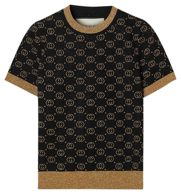 Item - Brown Metallic Intarsia Wool-blend Sweater Tee Shirt Size 00 (XXS)