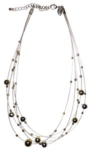Lia Sophia Lia Sophia Gold and Silver Multi-Strand Necklace
