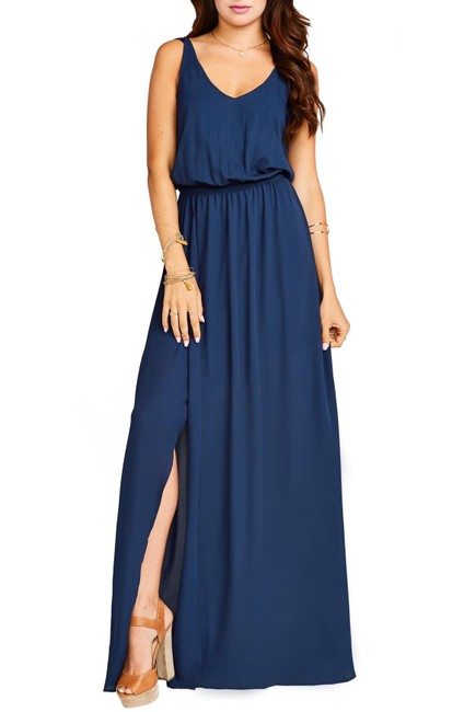 Item - Navy Kendall Gown Long Casual Maxi Dress Size 16 (XL, Plus 0x)