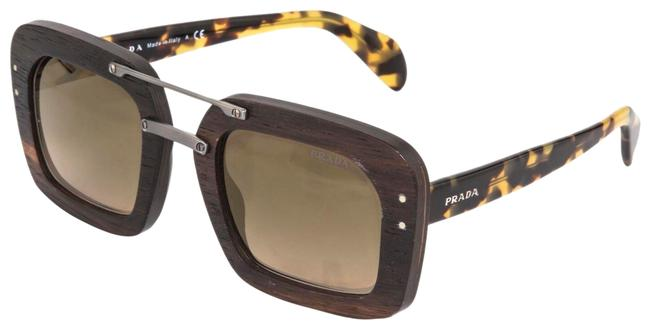 Item - Brown Havana Raw 30r Wood Malabar Square Ebony Gold Mirrored Pr30r Sunglasses